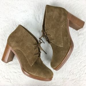 Johnston & Murphy Alayna Whiskey Suede Bootie 7M